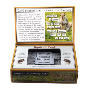 Squirrel Poet - Fridge Magnet Set - Fridge Poetry Thumbnail 3