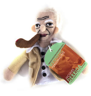 Jacques Derrida Finger Puppet & Fridge Magnet