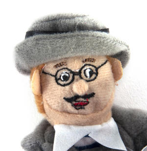 James Joyce Finger Puppet & Fridge Magnet