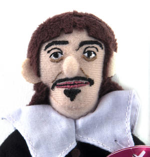 René Descartes Finger Puppet & Fridge Magnet