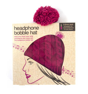 Headphone Bobble Hat Thumbnail 5