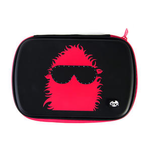 Shades (Black / Red) Light Up Glowgo Pencil Case by Tinc - with Built-in Lights Thumbnail 1