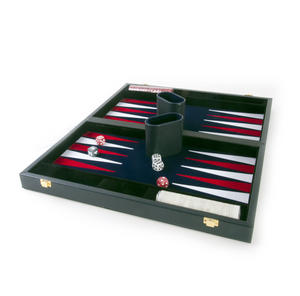 "Attaché Backgammon - Classic 15"" Oxford Blue in an Attaché Case"