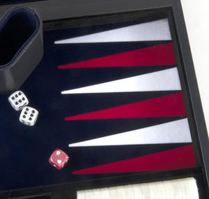 "Attaché Backgammon - Classic 15"" Oxford Blue in an Attaché Case Thumbnail 3"