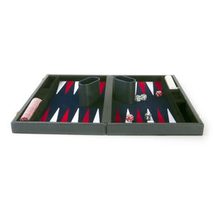 "Attaché Backgammon - Classic 15"" Oxford Blue in an Attaché Case Thumbnail 4"