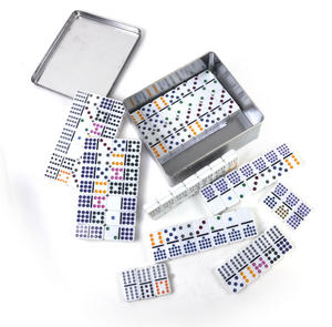 Classic Dominoes - Set of Domino Double Fifteens in A Metal Box Thumbnail 2