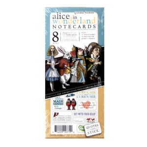 8 Alice in Wonderland Notecards - Greeting Cards With Sticker Quotes Thumbnail 2