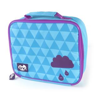 Geometric (Purple / Blue) Accessories Case / Lunch Bag by Tinc Thumbnail 1