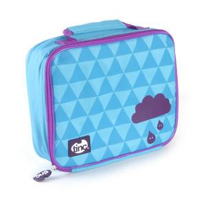 Geometric (Purple / Blue) Accessories Case / Lunch Bag by Tinc Thumbnail 2