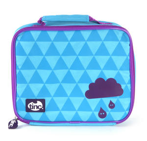 Geometric (Purple / Blue) Accessories Case / Lunch Bag by Tinc Thumbnail 3