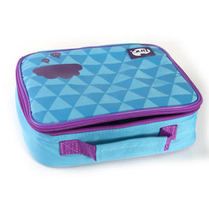 Geometric (Purple / Blue) Accessories Case / Lunch Bag by Tinc Thumbnail 4