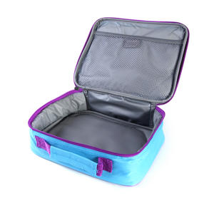 Geometric (Purple / Blue) Accessories Case / Lunch Bag by Tinc Thumbnail 5