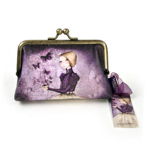"Amethyst Butterfly - 5"" Clasp Purse By Mirabelle"