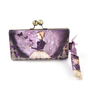 Deluxe Amethyst Butterfly Purse By Mirabelle