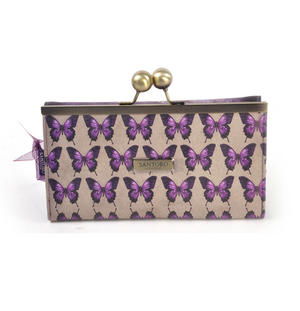 Deluxe Amethyst Butterfly Purse By Mirabelle Thumbnail 4