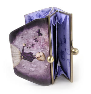 Deluxe Amethyst Butterfly Purse By Mirabelle Thumbnail 6