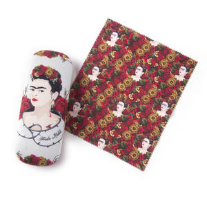 Frida Kahlo Rose Thorn Glasses Case and Lens Cloth Set