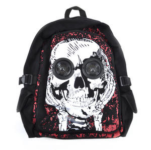 Skull Eyes Backpack With Speakers