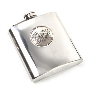 Welsh Dragon 6oz Hip Flask Presentation Box Set with Funnel Thumbnail 3