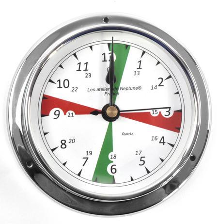 Silent Area Clock  - Polished Brass / Chromed / Varnished C12H 1000S - CH 115 x 95 x 35mm