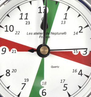 Silent Area Clock  - Polished Brass / Chromed / Varnished C12H 1000S - CH 115 x 95 x 35mm Thumbnail 2