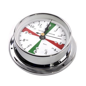 Silent Area Clock  - Polished Brass / Chromed / Varnished C12H 1000S - CH 115 x 95 x 35mm Thumbnail 3