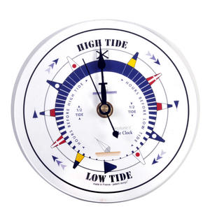 White Dial Tide Clock  - Round Acrylic TC 6000A - ACR Diameter 150mm Thumbnail 1