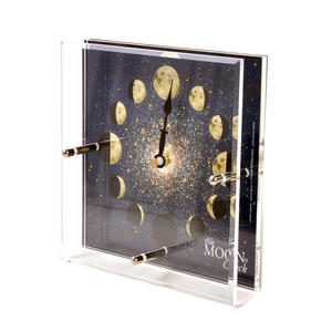 Moon Clock  - Double Acrylic Night Dial MC 150 N - ACR 150 x 150mm