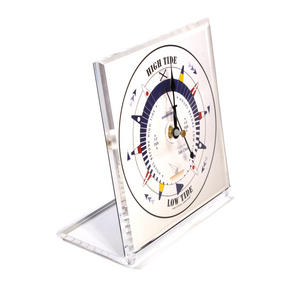 White Dial Square Standing Tide Clock - Acrylic TC 1010 A - ACR 150 x 150mm Thumbnail 2