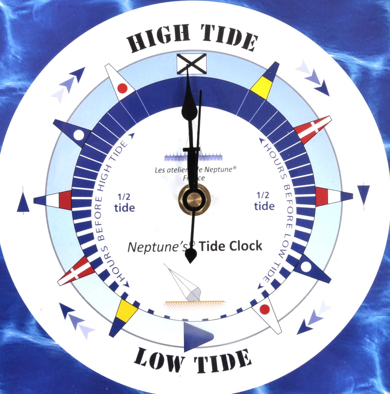 sea dial tide clock acrylic classic dial tc m acr 180 x 180mm - Tide Clock