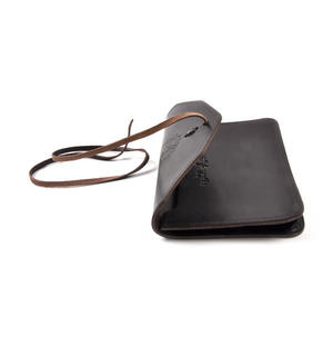 Juzdaan Brown Leather Koran Book Case with Alquram Alkarim Embossed Text Thumbnail 4