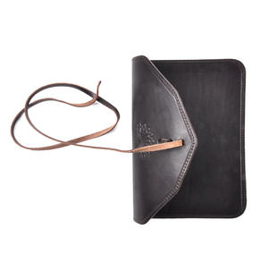Juzdaan Brown Leather Koran Book Case with Alquram Alkarim Embossed Text Thumbnail 5