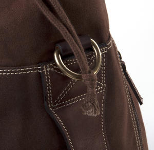 Sea Sack - Full Size Cylinder Kit Bag - Heavy Brown Canvas & Leather Thumbnail 3
