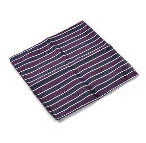 Navy & Maroon Striped Pocket Square Handkerchief