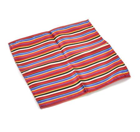 Multi Coloured Striped Pocket Square Handkerchief