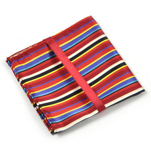 Multi Coloured Striped Pocket Square Handkerchief Thumbnail 3