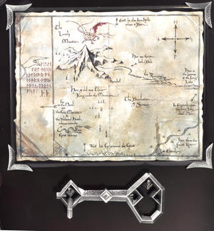 The Hobbit Map & Key of Thorin Oakenshield by The Noble Collection Thumbnail 3