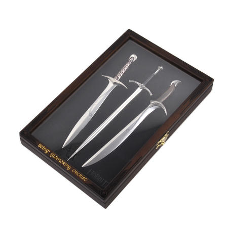 The Hobbit Sting Glamdring Orcrist Letter Opener Set by The Noble Collection