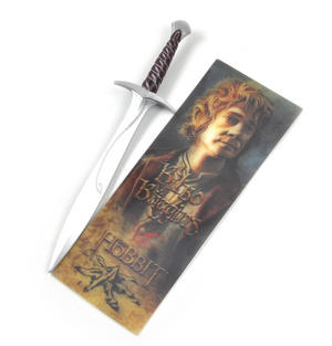 The Hobbit Bilbo Baggins Pen and Lenticular Bookmark Set by The Noble Collection Thumbnail 2
