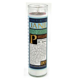 Jane Austen - Secular Saint Jane Candle Thumbnail 2