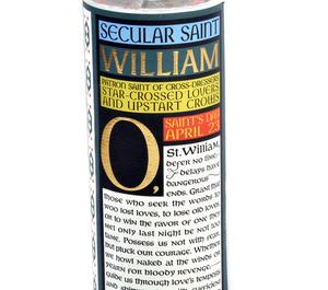 William Shakespeare - Secular Saint William Candle Thumbnail 4