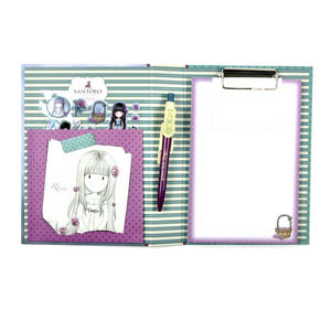 Rosie Premium Clip Pad Stationary Set with Pen, Notepaper & Stickers by Gorjuss Thumbnail 4
