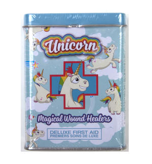 Unicorn Magical Wound Healers - First Aid In A Tin - Plasters / Band Aids