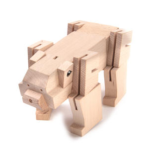 Squarebear - Bear Cube Sculpture