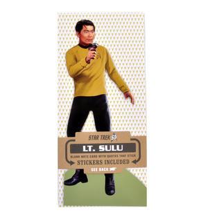 Lt. Sulu - Star Trek Greeting Card With Sticker Sheet