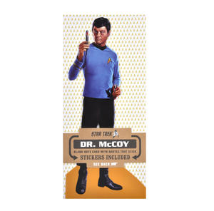 Dr. McCoy - Star Trek Greeting Card With Sticker Sheet