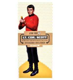 Lt. Cdr. Scott - Star Trek Greeting Card With Sticker Sheet