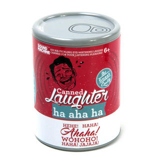 Tin of Canned Laughter - 6 Different Laughs - Sound Machine