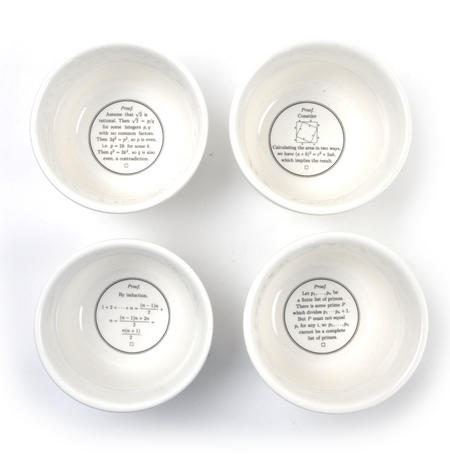 Proof is in the Pudding - 4 Different Classic Scientific Formulae in Bowls