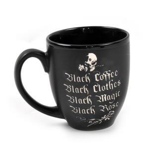 Black Coffee Black Rose Mug